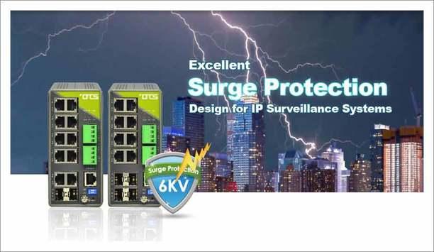 OT Systems Hardened Managed 8-port Gigabit Ethernet Switches Feature 6kV Lightning Surge Protection