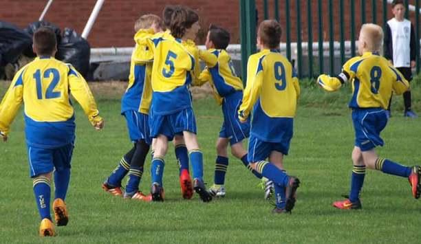 GJD Sponsors Tynemouth United Yellows Under 11 Football Team