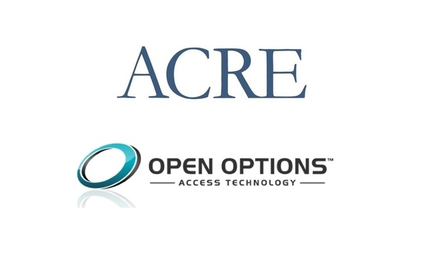 ACRE Strengthens Access Control Product Portfolio By Acquiring Texas-based Access Control Solutions Firm, Open Options
