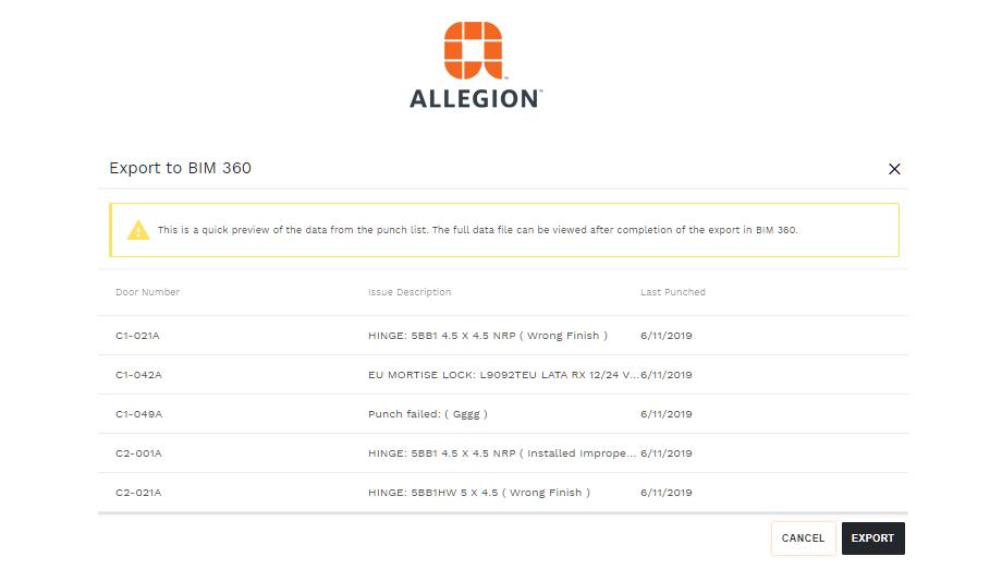 Allegion US Announces Overtur™ Integration With Autodesk's BIM360 Platform