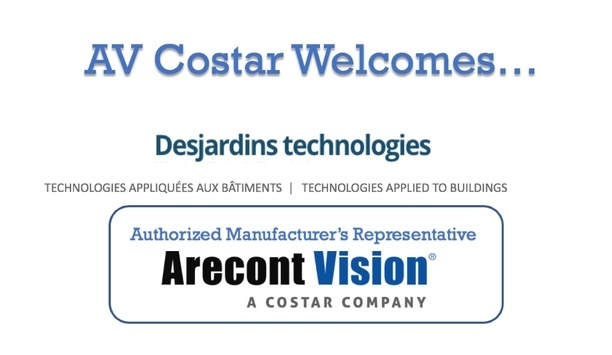 Arecont Vision Costar Adds Desjardins Technologies To Its Manufacturer's Representative Program