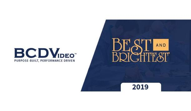 BCDVideo Recognized By National Association For Business Resources As One Of 'Chicago's Best And Brightest Companies To Work For'