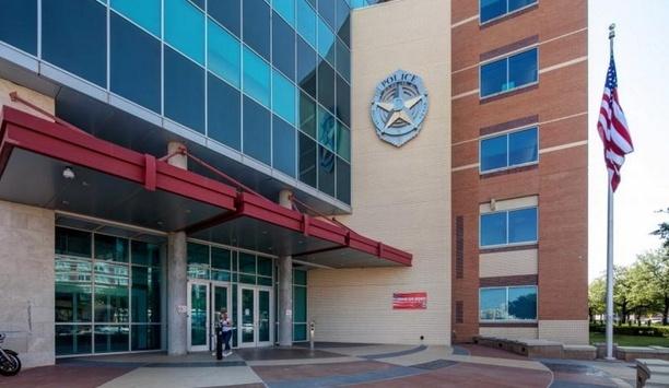 Boon Edam's Tourlock 180+90 Security Revolving Door Secures Dallas Police Department Headquarters' Lobby