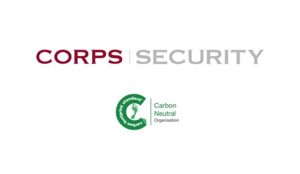 Corps Security Achieves Carbon Neutral Status By Reducing Carbon Footprint And Offsetting Unavoidable Carbon