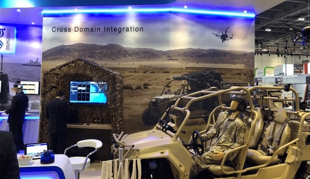Hoverfly Showcases LiveSky UAS At Drumgrange's Stand At DSEI 2019