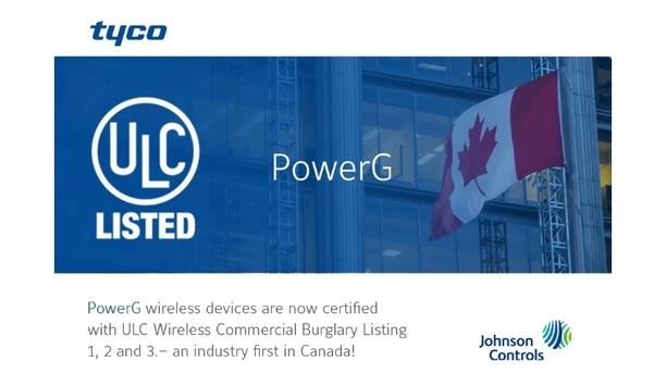 Johnson Controls Announces That Its PowerG Technology Achieves ULC Certification