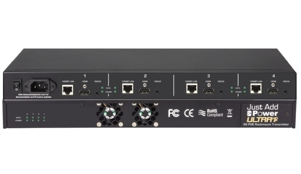 Just Add Power 3G Ultra HD Over IP PoE Transmitter Aids Security Integrations
