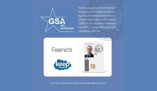Keep By Feenics Achieves FICAM Compliance And GSA Listing As Approved Access Control Credentialing Product