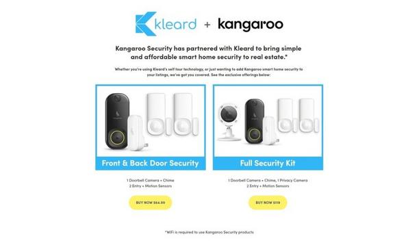Kleard Partners With Kangaroo Home Security To Make Self-Touring Real Estate Safer During COVID-19 Pandemic