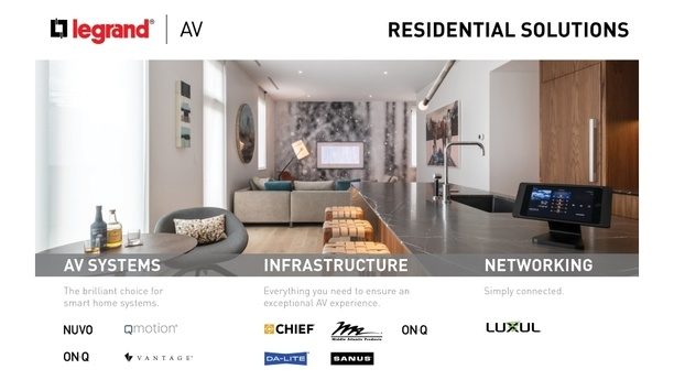 Legrand | AV Residential Solutions To Showcase Smart Home Solutions At CEDIA Expo 2019