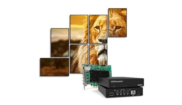 Matrox Unveils QuadHead2Go Multi-Monitor Controllers For Dynamic, Next-Generation Video Walls
