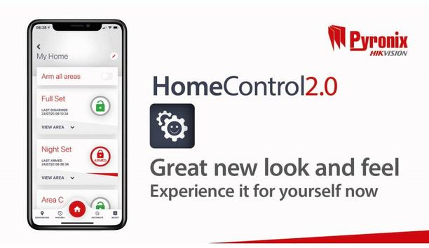 Pyronix Extends Their Range Of Smart Device Application With The Launch Of HomeControl2.0