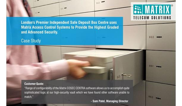 Matrix Access Control Solution Helps Secure Sovereign Safe's Safety Deposit Vaults