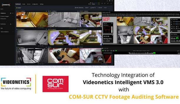 Videonetics Integrates Intelligent VMS 3.0 With COM-SUR To Help Users Review CCTV Video Feeds In Real-Time