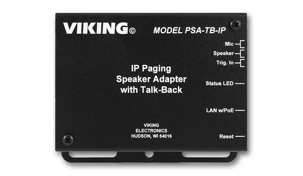 Viking Electronics Unveil PSA-TB-IP Adapter To Convert An Analog Paging Speaker Into An IP Speaker With Talk-Back Capabilities