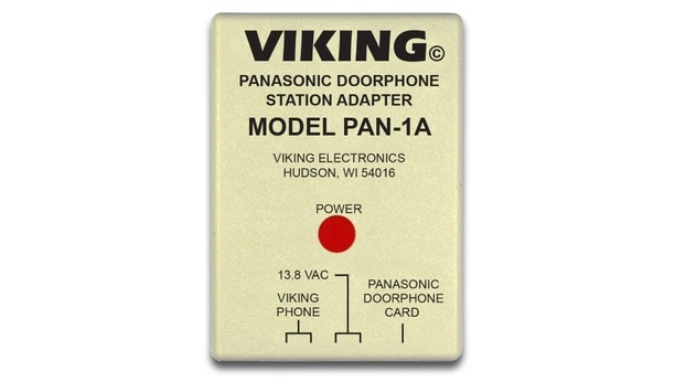 Viking Electronics' PAN-1A Door Phone Station Adapter Utilizes The Features Of Panasonic Door Phone Cards