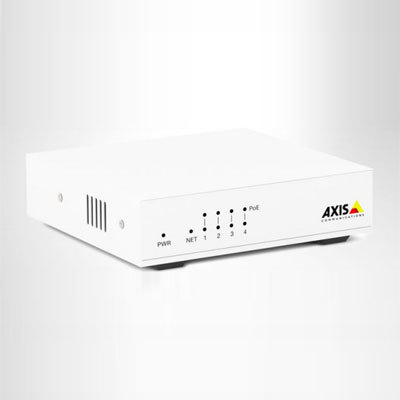Axis Communications AXIS Companion Switch 4CH 4-Port 10/100 Mbps PoE+ Switch