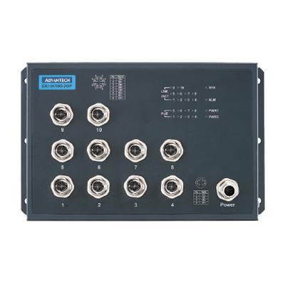 BCDVideo BCD-RSS-802U EN50155 10-port Unmanaged PoE M12 Full Giga Ethernet Switch 72/96/110 V