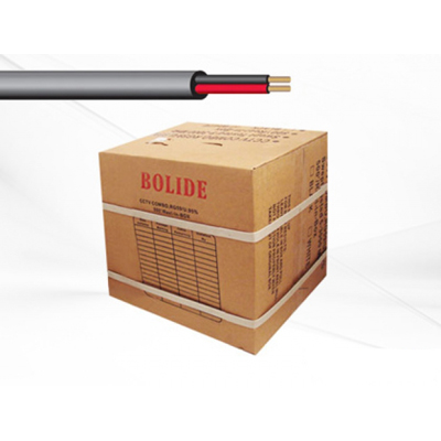Bolide BP0033-18-2black 1000FT UL Listed 18/2 Cable, Black Color
