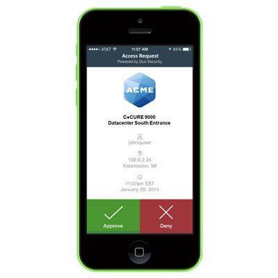 Software House CC9-2FA-100 Multi-Factor Mobile Authentication