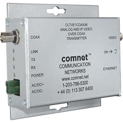 ComNet Introduces IP + Analog Video Over Coax