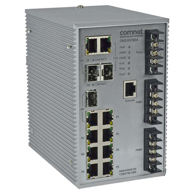 ComNet CNGE3FE7MS4 Electrical Substation-rated Managed Ethernet Switch