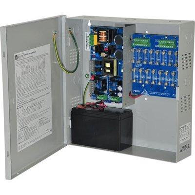 Altronix eFlow102NX8D Power Supply Charger, 8 PTC Class 2 Outputs, 12VDC @ 10A, Aux Output, FAI, LinQ2 Ready, 115VAC, BC400 Enclosure