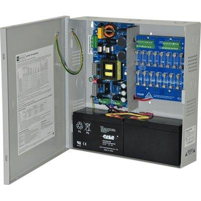 Altronix eFlow104N16 Power Supply Charger, 16 Fused Outputs, 24VDC @ 10A, Aux Output, FAI, LinQ2 Ready, 115VAC, BC300 Enclosure