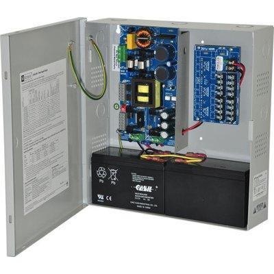 Altronix EFlow104N8DV Power Supply Charger, 8 PTC Class 2 Outputs, 24VDC @ 10A, Aux Output, FAI, LinQ2 Ready, 220VAC, BC300 Enclosure
