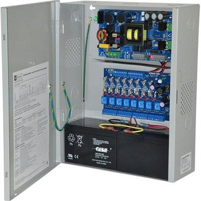 Altronix eFlow104NA8V Access Power Controller w/ Power Supply/Charger, 8 Fused Relay Outputs, 24VDC @ 10A, Aux Output, FAI, 220VAC, BC400 Enclosure