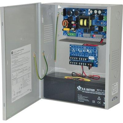 Altronix EFlow104NX8D Power Supply Charger, 8 PTC Class 2 Outputs, 24VDC @ 10A, Aux Output, FAI, LinQ2 Ready, 115VAC, BC400 Enclosure