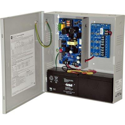 Altronix EFlow3N4 Power Supply Charger, 4 Fused Outputs, 12/24VDC @ 2A, Aux Output, FAI, LinQ2 Ready, 115VAC, BC300 Enclosure