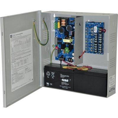 Altronix eFlow4N8V Power Supply Charger, 8 Fused Outputs, 12/24VDC @ 4A, Aux. Output, FAI, LinQ2 Network 220VAC, BC300 Enclosure