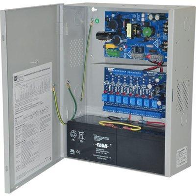 Altronix eFlow4NA8D Access Power Controller w/ Power Supply/Charger, 8 PTC Class 2 Relay Outputs, 12/24VDC, 4A, Aux Output, FAI, 115VAC, BC400 Enclosure
