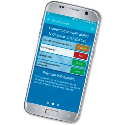 March Networks GURU Smartphone App with Security Audit feature