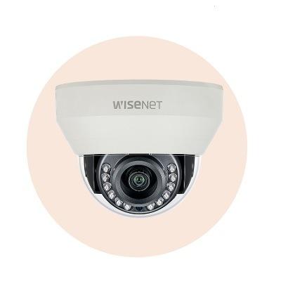 Hanwha Techwin America HCD-7010R 4MP Wisenet HD+ Indoor Dome Camera