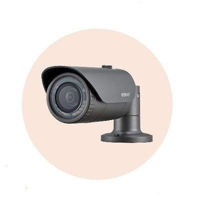 Hanwha Techwin America HCO-7020R 4MP Wisenet HD+ Bullet Camera