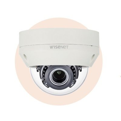 Hanwha Techwin America HCV-6080R 1080p Analog HD Vandal-Resistant IR Dome Camera