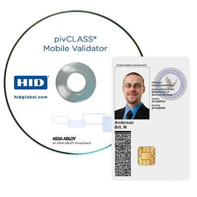 HID PivCLASS Mobile Validator Handheld Software Application