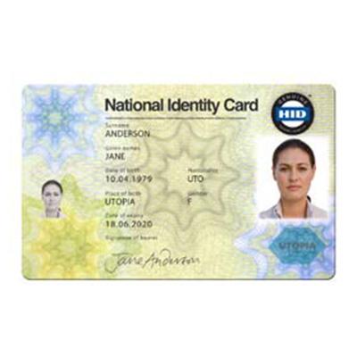 HID Polycarbonate ID Card Laminated E-ID Card