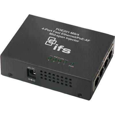 IFS POE201-MS/4 4-Port Fast Ethernet Network Transmission