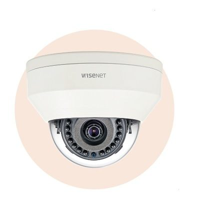 Hanwha Techwin America LNV-6030R 2M Vandal-Resistant Network IR Dome Camera
