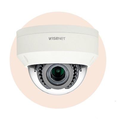 Hanwha Techwin America LNV-6070R 2M Vandal-Resistant Network IR Dome Camera