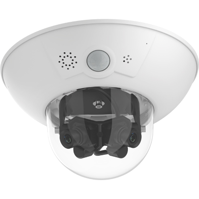 MOBOTIX D16 DualDome With Two Lenses, Two HiRes Image Sensors, And A Dual Image Of Maximum 12.5 MP