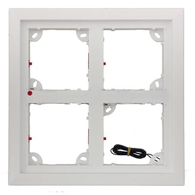MOBOTIX MX-OPT-Frame-4-EXT-SV Silver-Colour Quad Frame