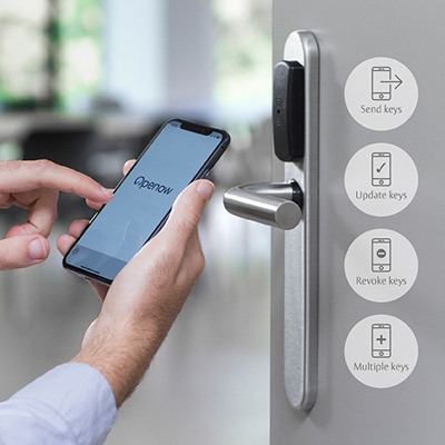 TESA Openow mobile app allows to receive keys in your smartphone, to enable the opening of doors