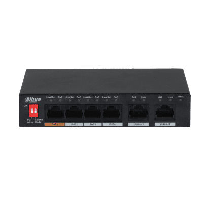 Dahua Technology PFS3006-4ET-60 6-Port 10/100Mbps Unmanaged Desktop Switch With 4 PoE Ports