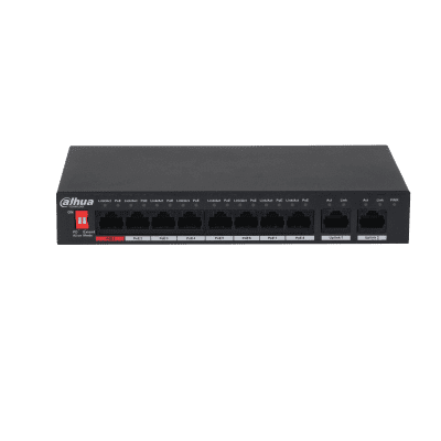 Dahua Technology PFS3010-8ET-96 10-Port Unmanaged Desktop Switch with 8-Port PoE