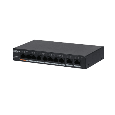 Dahua Technology PFS3010-8GT-96 10-Port Gigabit Unmanaged Desktop Switch with 8-Port PoE