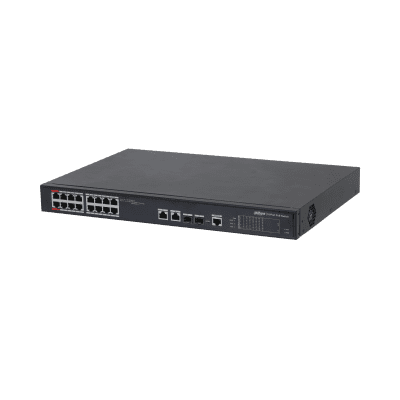 Dahua Technology PFS4218-16ET-240 16-port 100 Mbps + 2-port Gigabit Managed PoE Switch